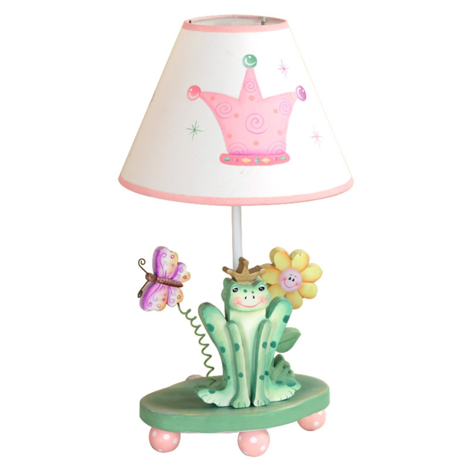 Cute lamps for kids rooms lighting interior decorating idea crown table lamp princess frog collection for kids arubaitofo Gallery