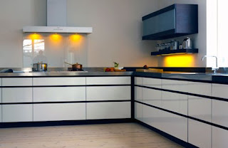 modern kitchen design - l-shaped kitchen