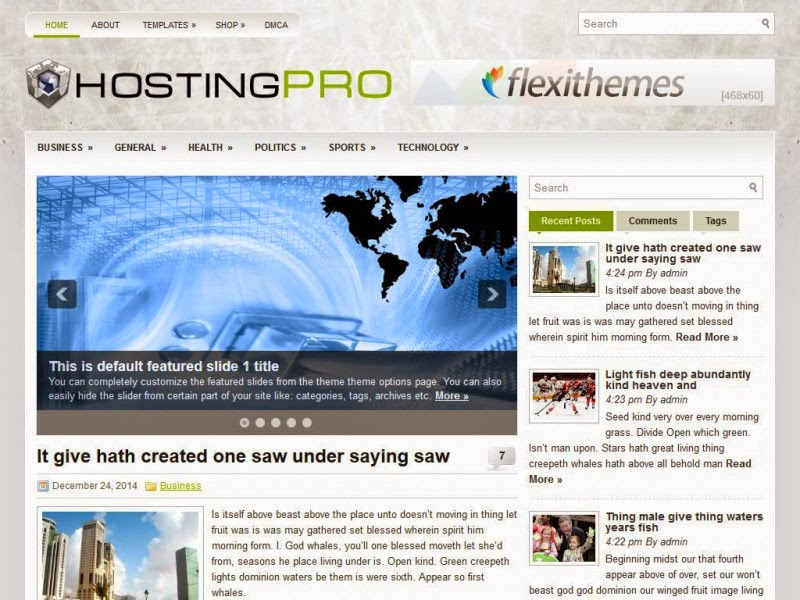 HostingPro - Free Wordpress Theme