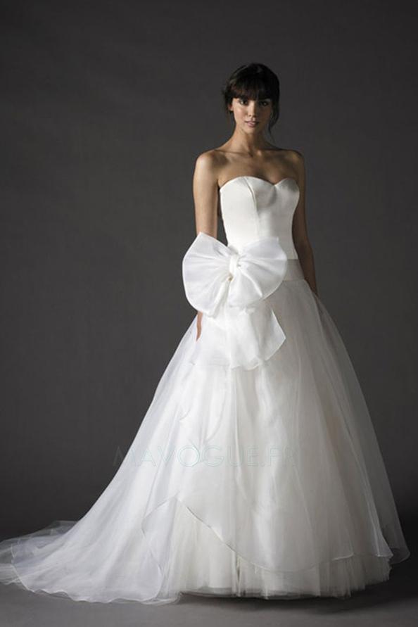 La robe de mariée princesse (robe de mariee satin princesse tulle ...