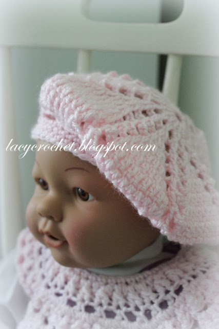 Free Knitting Pattern Toddler Beret : Lacy Crochet: Baby/Toddler Berets, Free Crochet Pattern