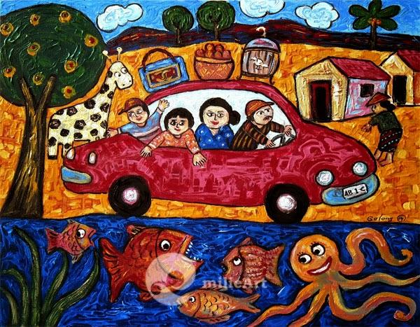 lukisan mobil naive