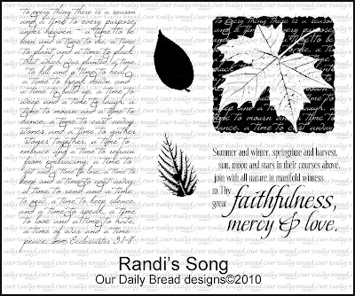 "Our Daily Bread designs ""Randi's Song"""