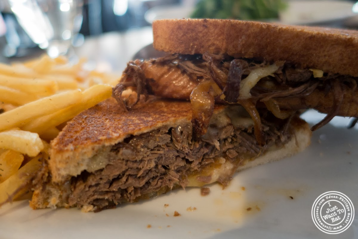 image of short rib grilled cheese at City Bistro in Hoboken, NJ