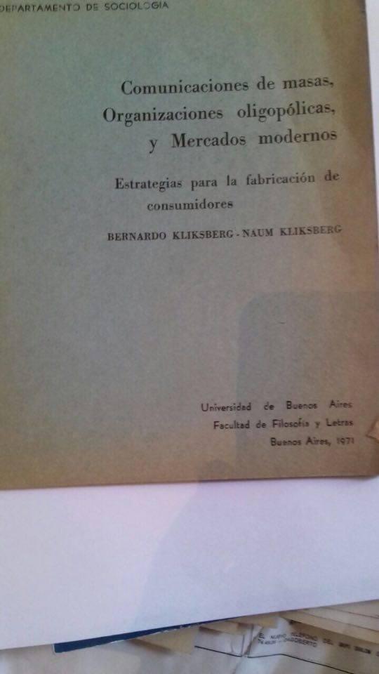 66 - Publicado por la Universidad de Buenos Aires. 1971.