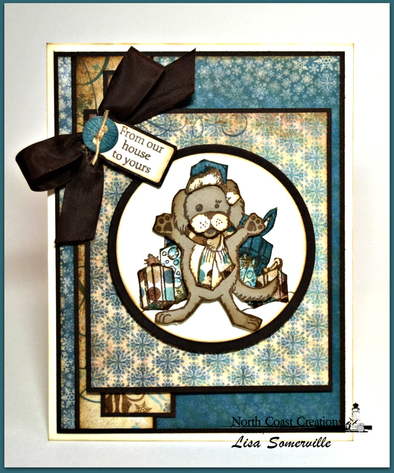 Stamps - North Coast Creations Snow Angel Murphy, Santa's List, Let It Snow, Our Daily Bread Designs Mini Tags Sentiments, ODBD Custom Mini Tag Dies, ODBD Custom Circle Ornaments Die, ODBD Custom Matting Circles Dies