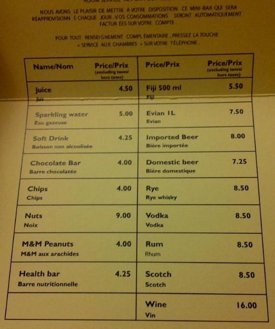 Price Bar