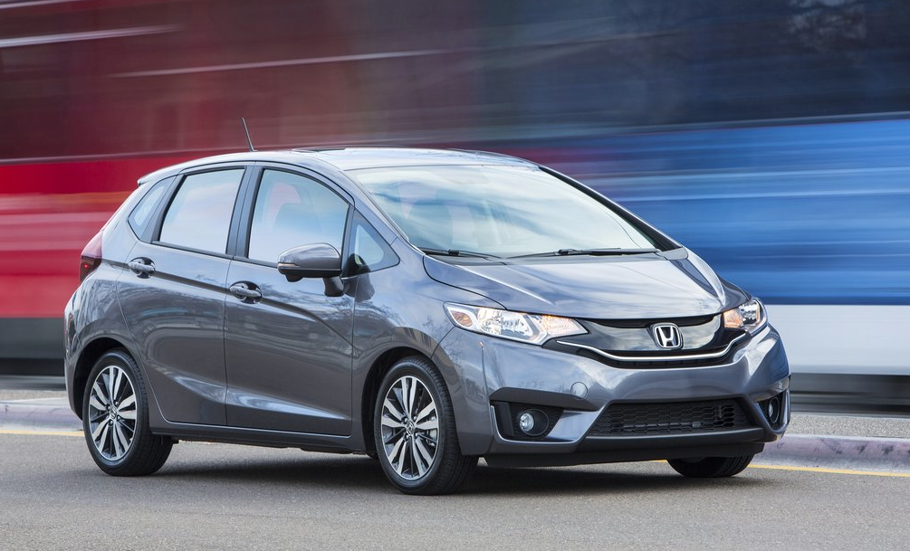 2015 Honda Fit grey