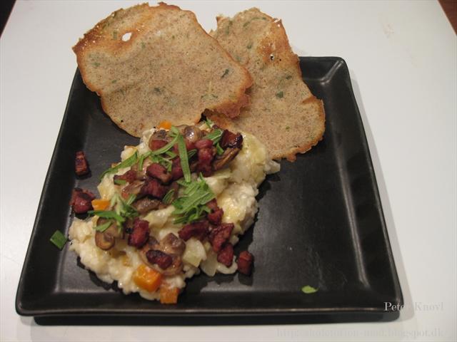 kalkunbryst med flødeost og bacon