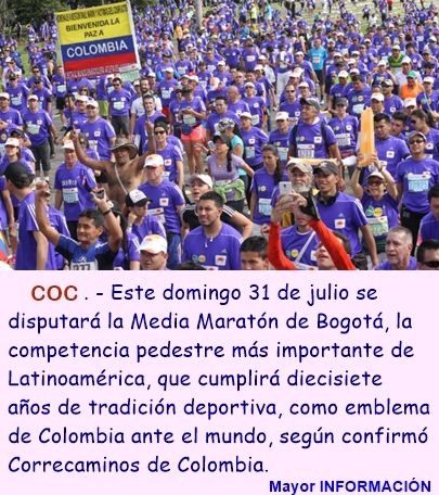 Media Maratón de Bogotá ya tiene fecha confirmada