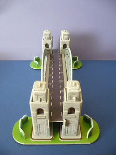 3D-puzzle of the Sydney Harbour Bridge