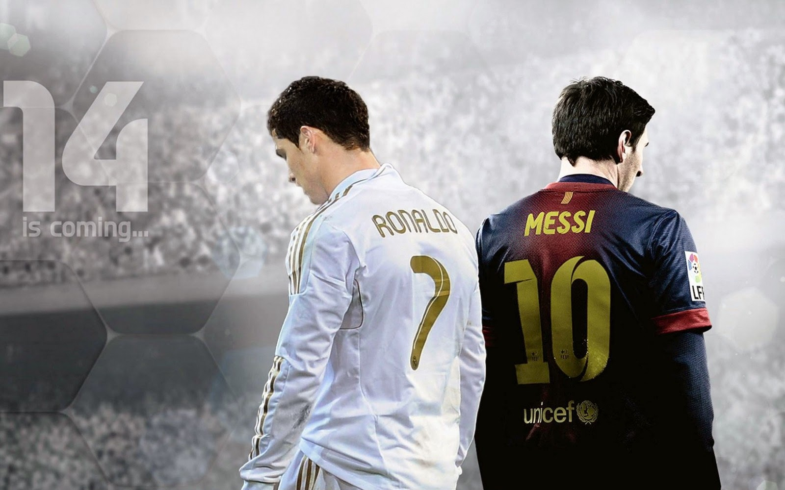 Fifa 14 Ronaldo Vs Messi La Liga Hd Desktop Wallpaper C A T