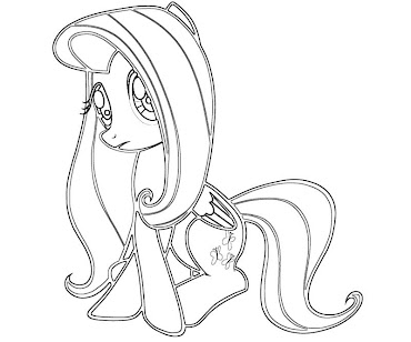 #15 Fluttershy Coloring Page