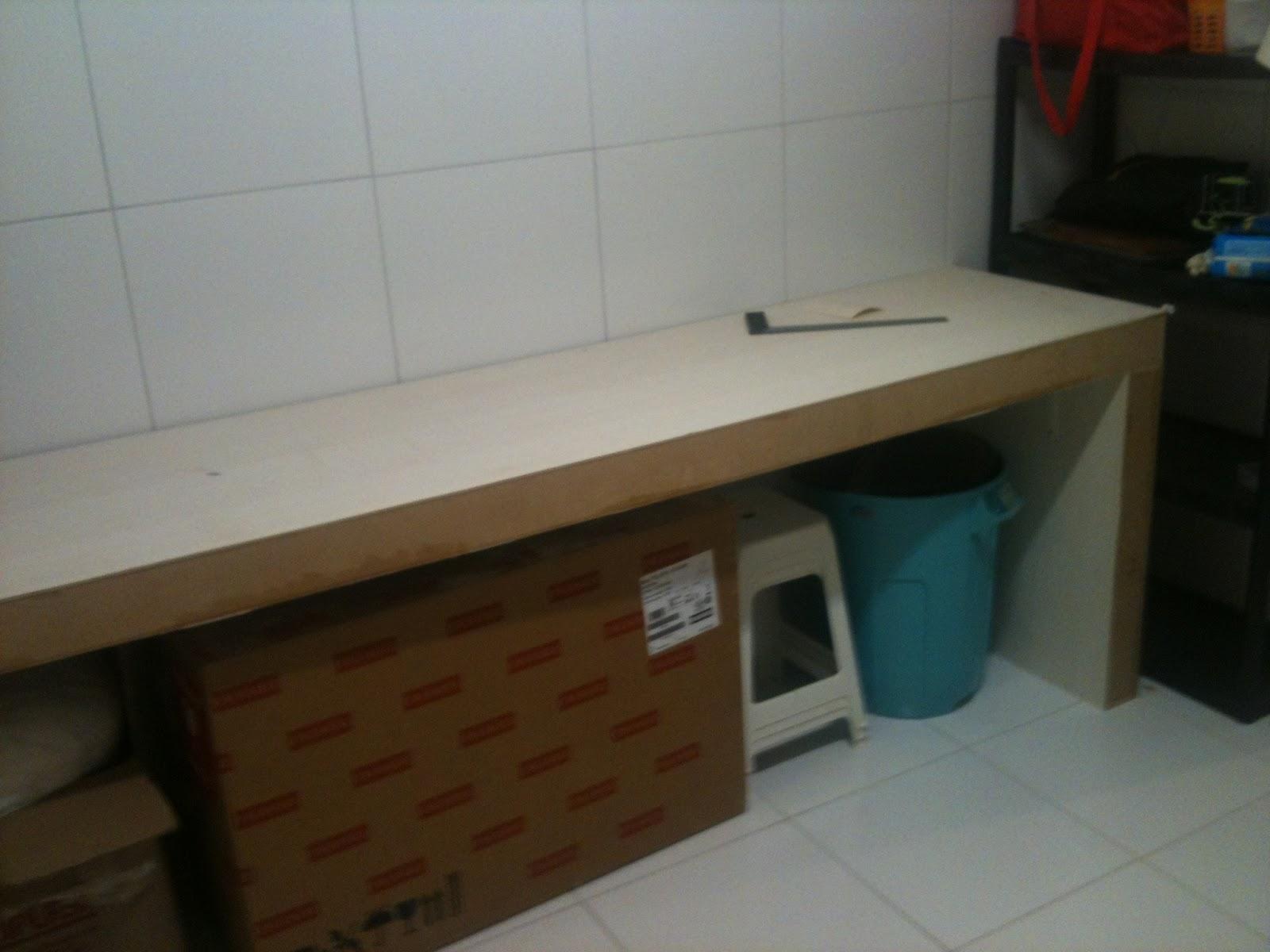 desses lá em casa : Mesa de jantar e bancada para cozinha americana #5F4B32 1600 1200
