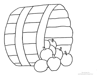 Apple Bushel Basket Coloring Page