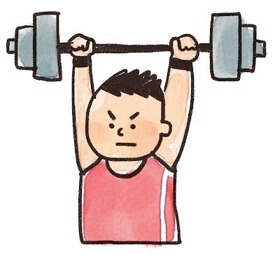 重量挙げの選手のイラスト(スポーツ)