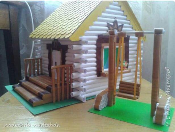 How to make a house with paper tube ❤❤❤ - Crazzy Craft