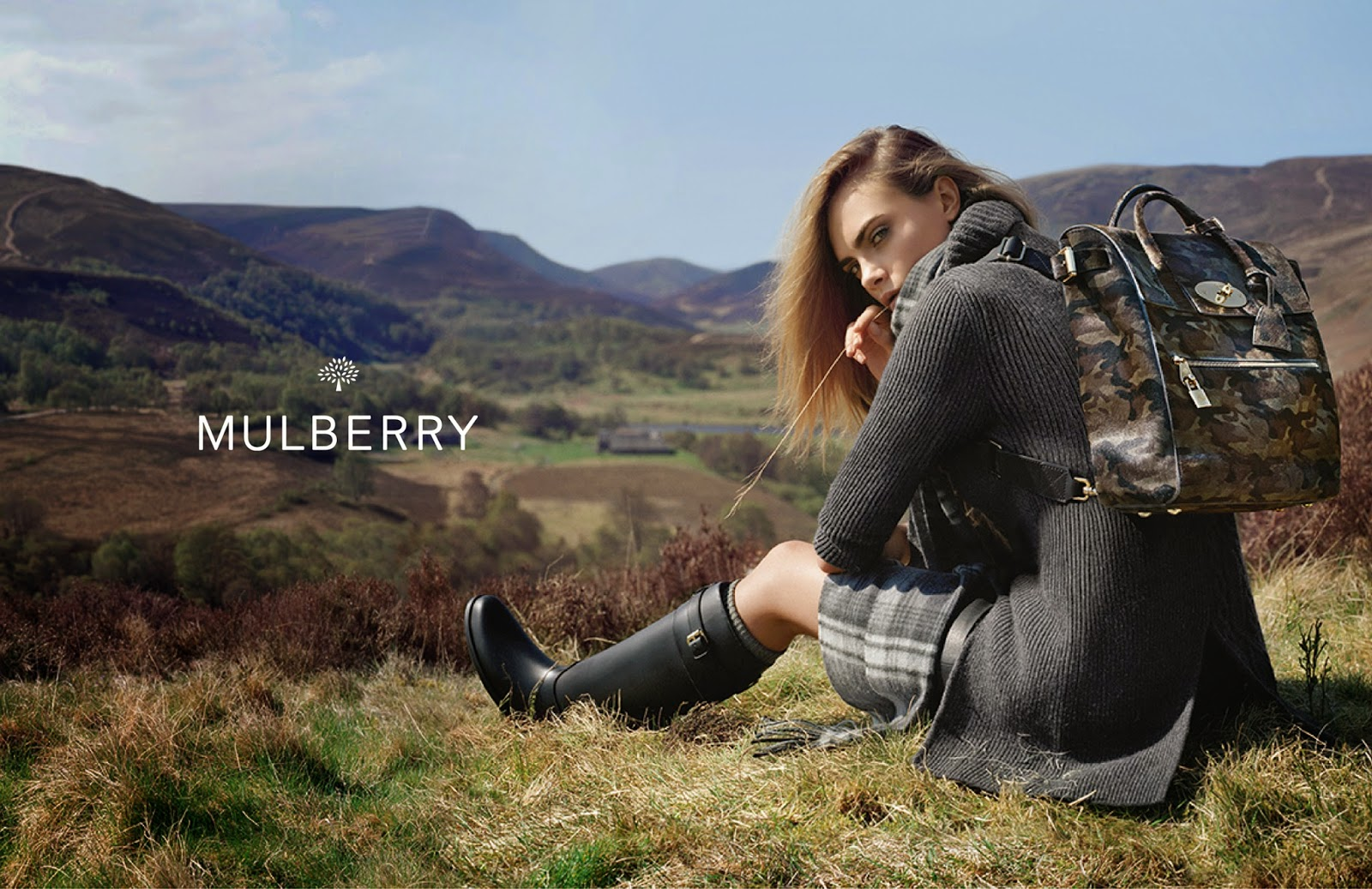 Mulberry's Autumn/Winter 2014 Ad Campaign Starring Cara Delevingne