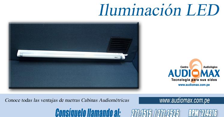 Audiomax CABINAS AUDIOM TRICAS ILUMINACI N INTERIOR LED