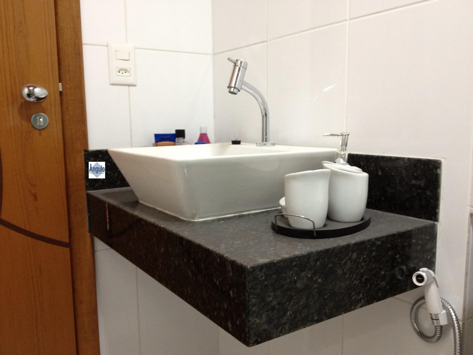 Ângulo Mármores e Granitos: Banheiros #13276E 1600x1200 Bancada P Banheiro