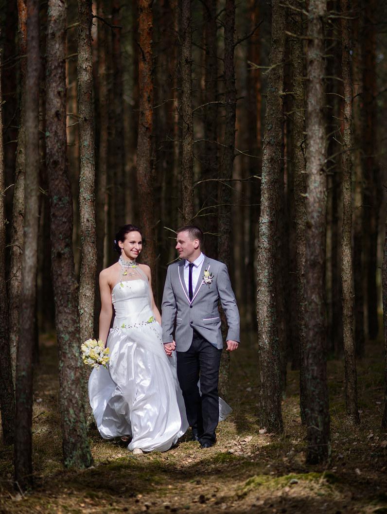 vestuvių fotografijos gamtoje