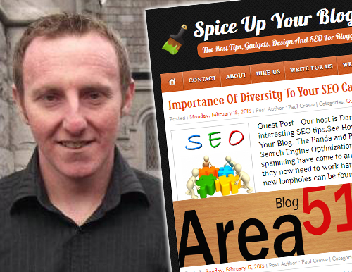 blogger interview paul crowe spice up your blog