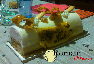 Vanille, cœur aux marrons et nougatine - Romain Pâtisseries ©