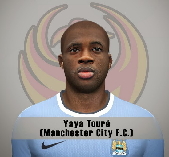 PES 2014 Yaya Touré Face by Fênix