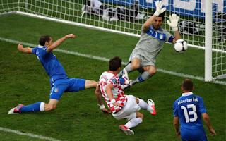 أهداف مباراة ايطاليا وكرواتيا 1-1 في بطولة اليورو 14-6-2012