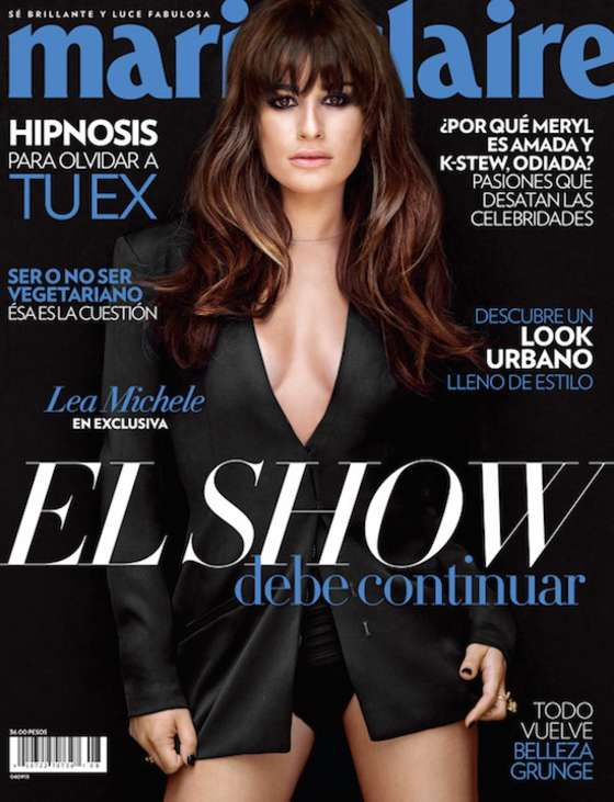 Lea Michele covers Marie Claire Mexico August 2013