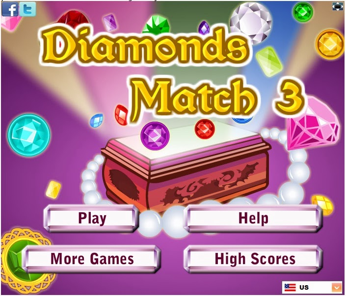 Diamonds Match 3 Bubble-Game Permainan Online