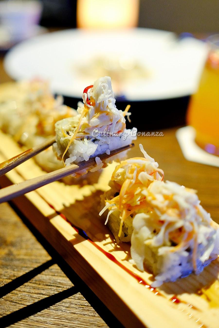 Crispy Galbi Rolls (sushi with Korean braised short rib & coleslaw)