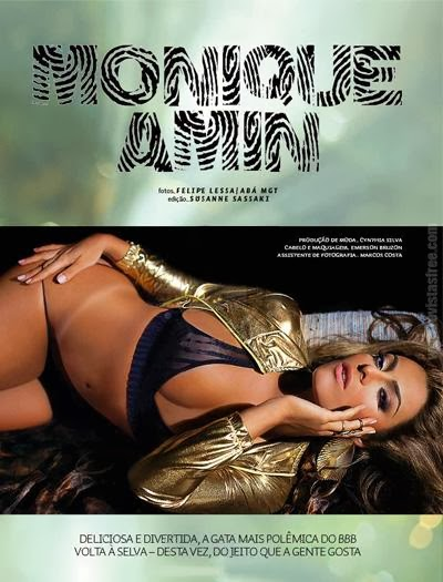 Monique Amin - Revista Sexy