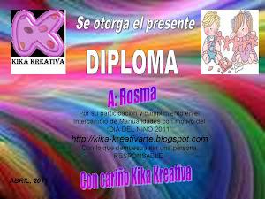 DIPLOMA DE CUMPLIMIENTO CON KIKA