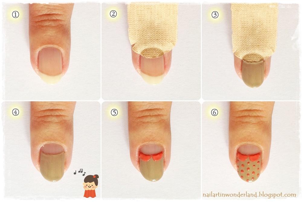Half moon nail art