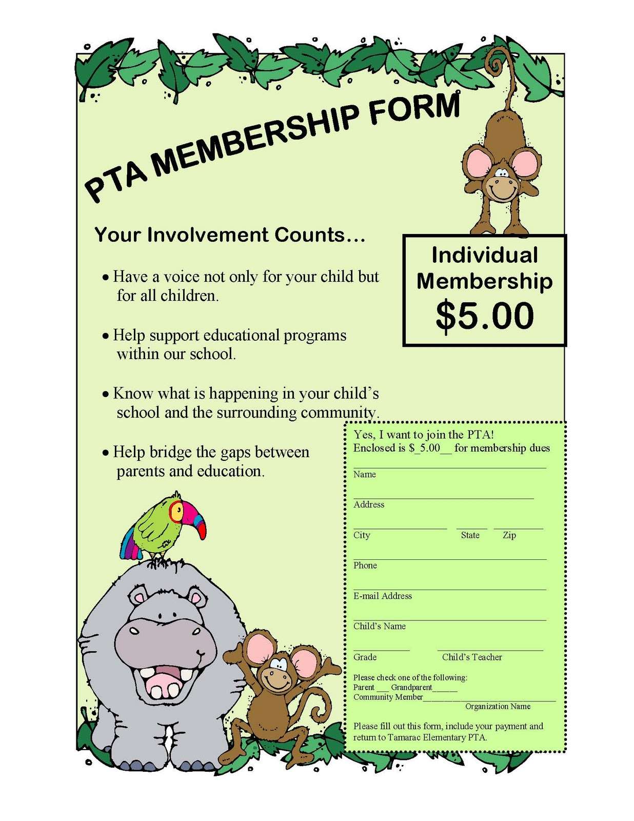 Tiger news pta membership drive through october 31st for Pta bylaws template