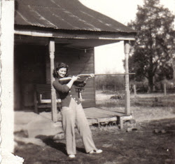 Mother with Grandpa's gun