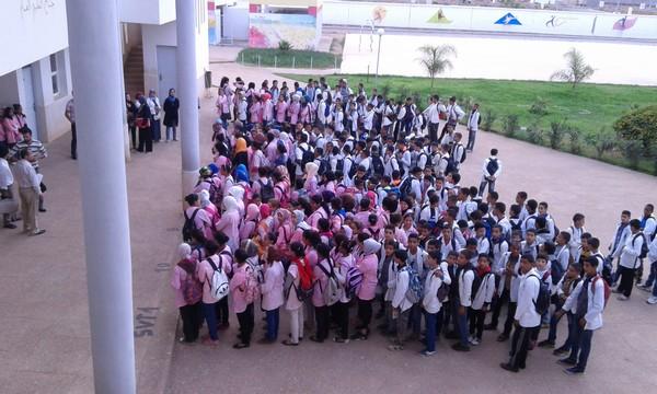 نيابة سلا: على إيقاع الورد، ثانوية عبد العزيز أمين الإعدادية تخلد اليوم العالمي للمدرس