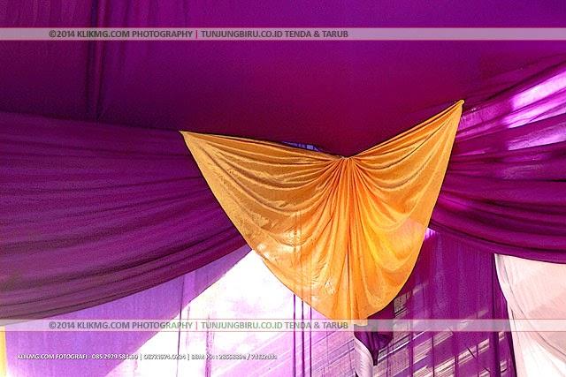 Tenda Resepsi Rumahan 01 Warna Ungu & Kuning Emas oleh Tunjungbiru.co.id Tenda & Tarub