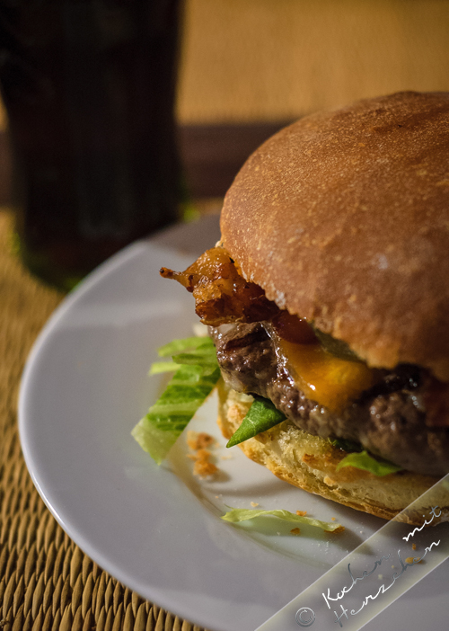 Der perfekte Bacon-Cheeseburger, homemade