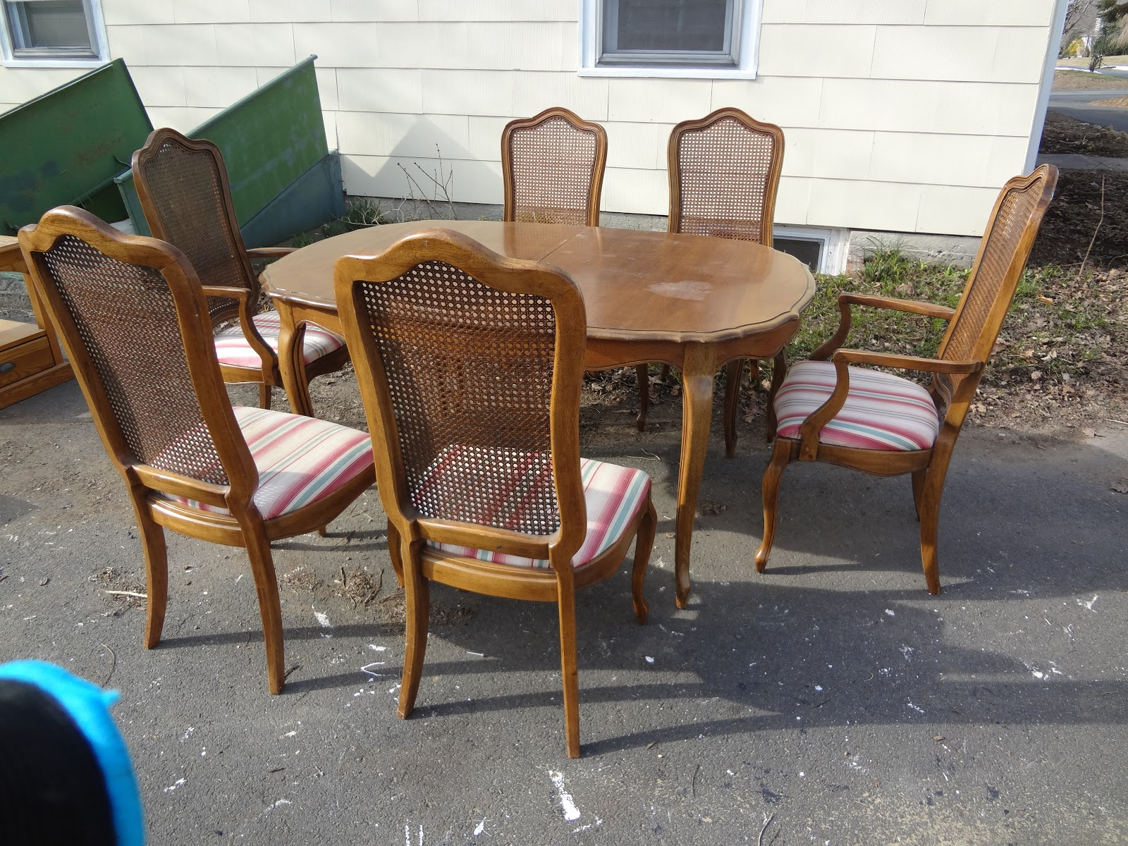 Charming New Acquisitions: A Fruitwood Thomasville Dining Set