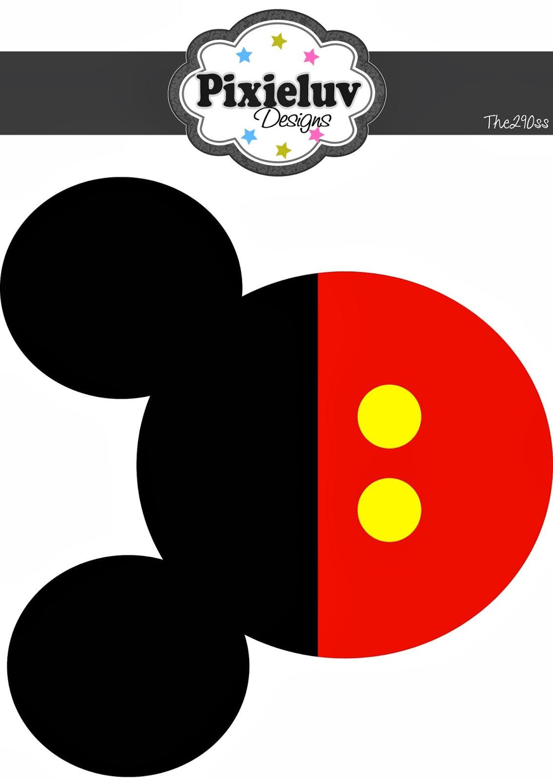Silueta de Mickey Mouse para imprimir - Imagui