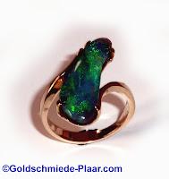 Ring,Gold,Schwarzopal,Goldschmiede Plaar