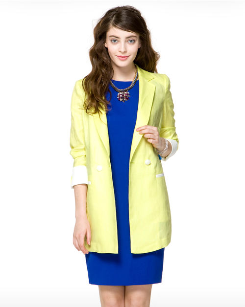 Pointed Sleeve Linen Jacket