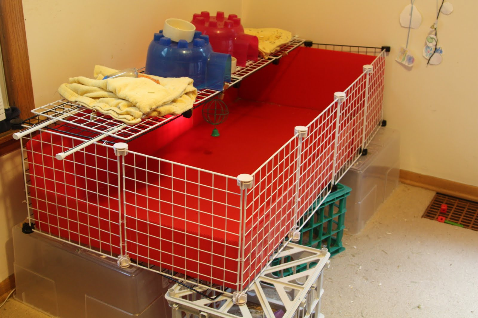 Kibbles 39 n knits diy guinea pig cage for How to guinea pig cage