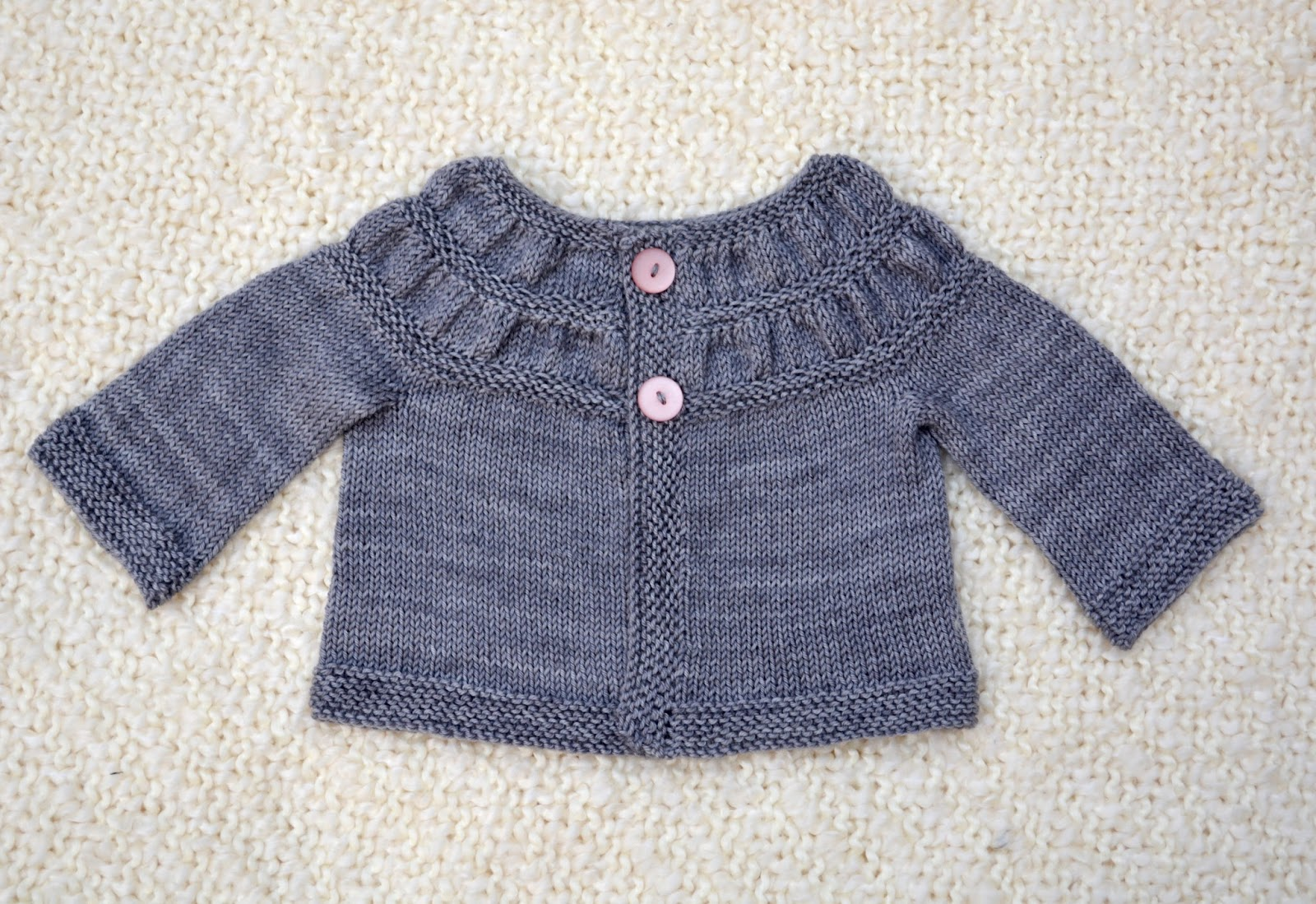 cozy birdhouse | hand knit baby tea leaves cardigan