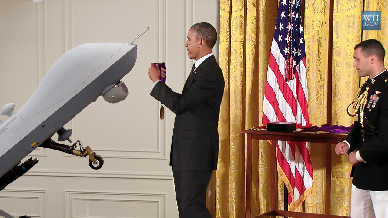 First US combat drone awarded Medal of Honor