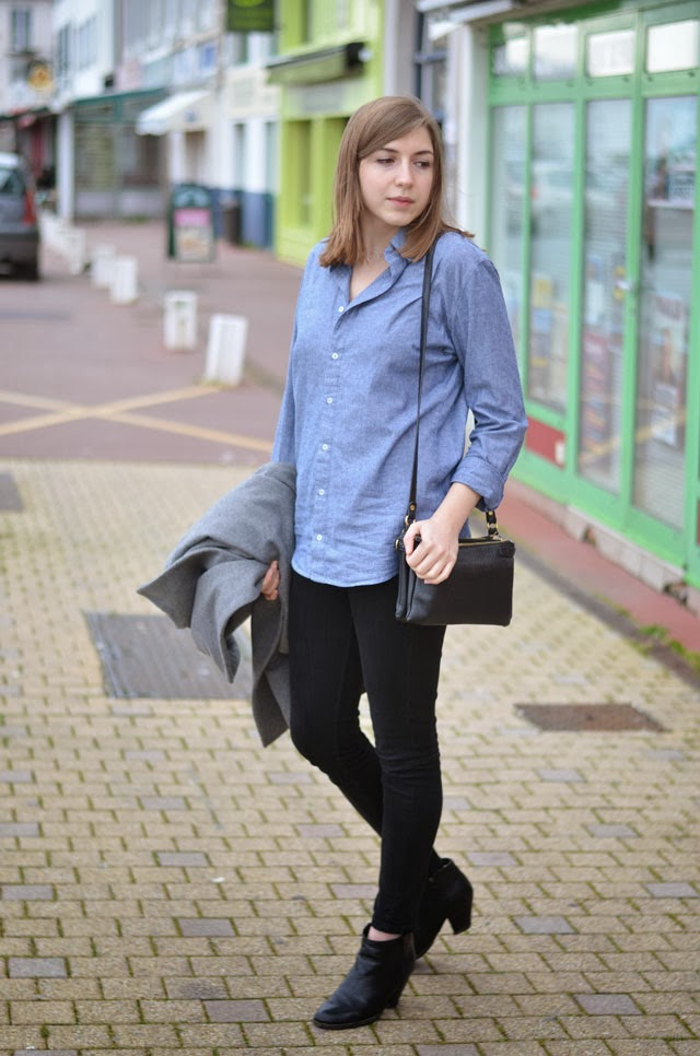 chemise chambray american apparel boots noir andré