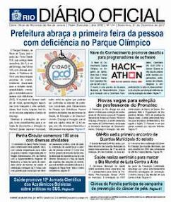 DIÁRIO OFICIAL Prefeitura do Rio de Janeiro - 01/12/2017