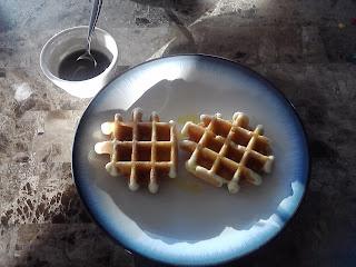 These are not paleo waffles by @PamelaMKramer